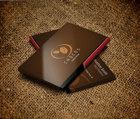 Coffee Shop Business Cards Design Coffee Shop Business Card