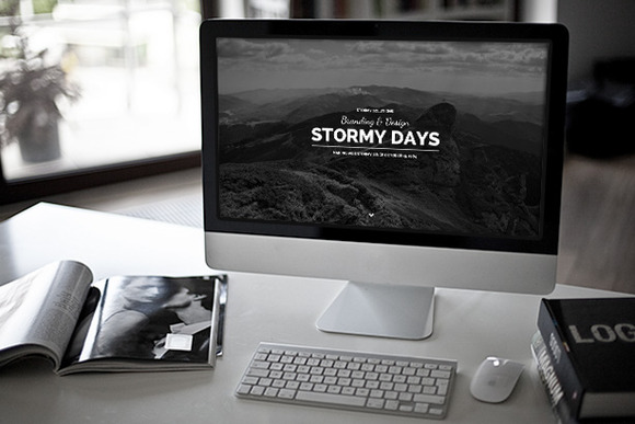 Stormy Day One Page Blog Theme