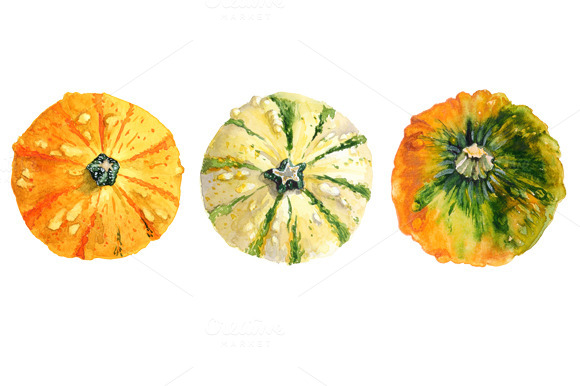 Watercolor Pumpkins