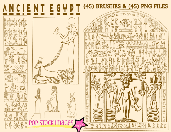 Ancient Egypt Brushes PNG Set