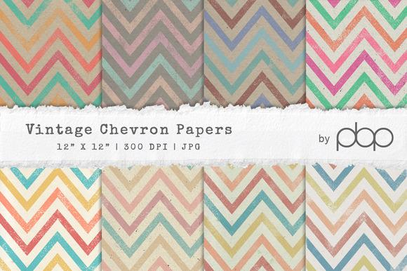 Vintage Chevron Paper Texture