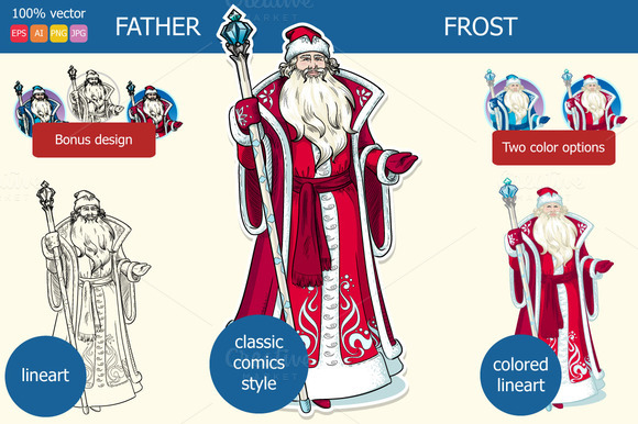 Father Frost The New Year Character