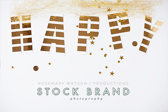 Happy Gold Styled Stock Brand Image