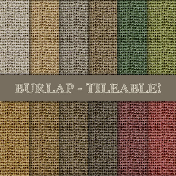 Burlap Tileable Seamless Patterns