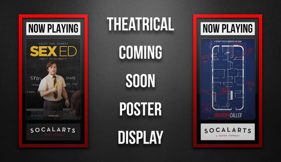Theatrical Poster Display Mockup