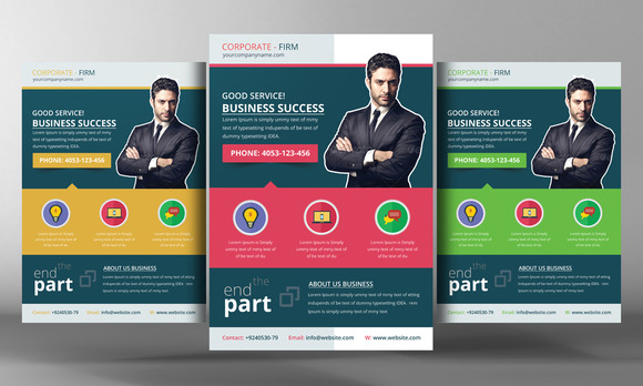 Corporate Office Flyer Template
