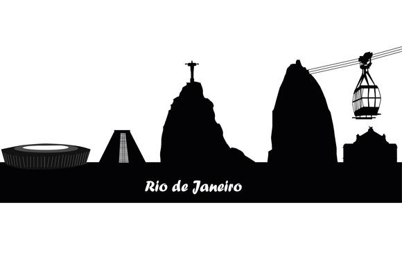 Rio De Janeiro City Skyline Silhouet