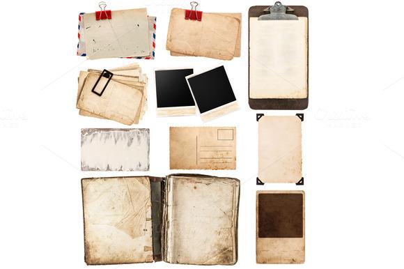 Vintage Papers Frames Clipboard