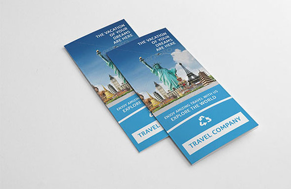 Tri-fold Brochure For Travel Company