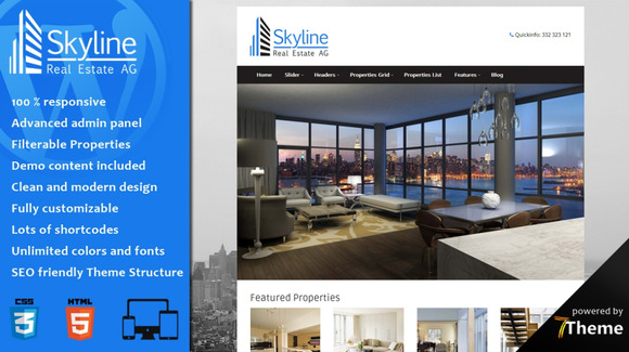 Skyline Real Estate WordPress