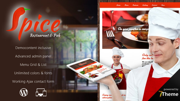 Spice Restaurant WordPress Theme