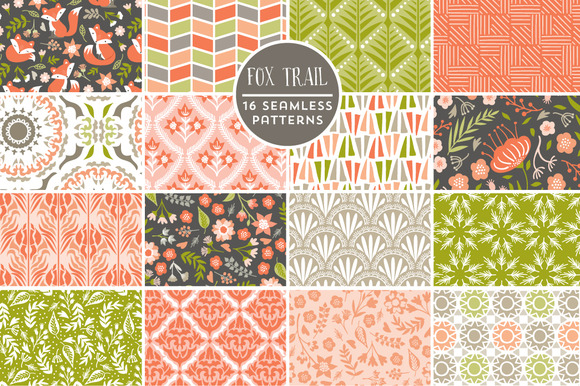 Fox Trail Seamless Backgrounds
