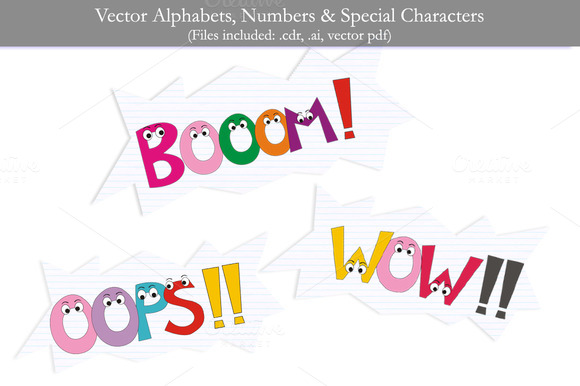 Vector Alphabets Numbers