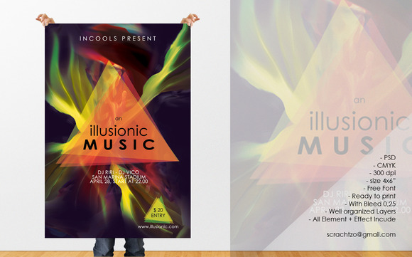 An Illusionic Music Flyer Template