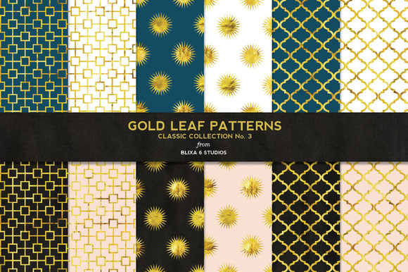 Gold Leaf Classic Digital Patterns 3