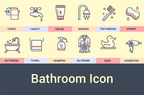 Bathroom Icon Collection