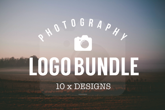 10 Logo Photography Templates Bundle