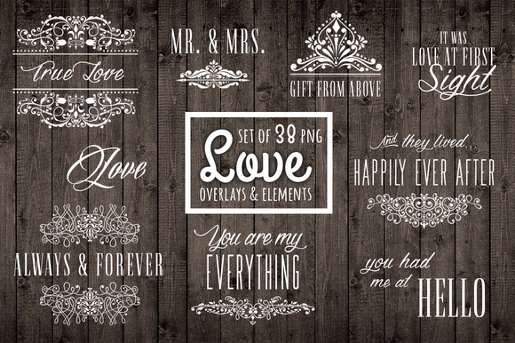 38 Love Photo Overlays And Elements
