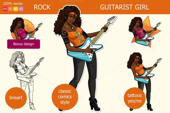Rock Guitarist African American Girl