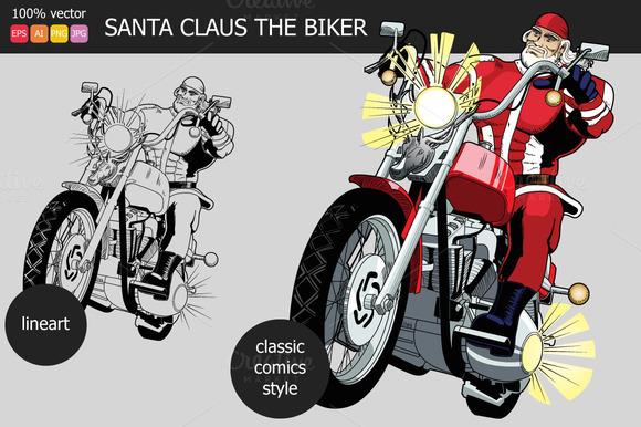 Santa Claus The Biker