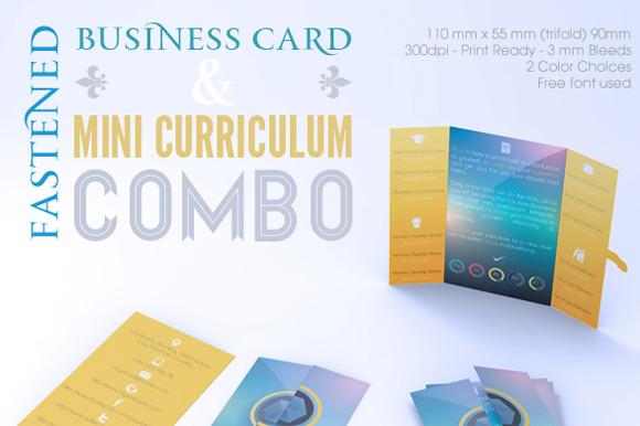 Fastened Buss Card Mini CV Combo