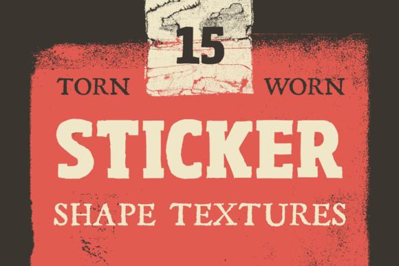 Torn Sticker Shape Textures