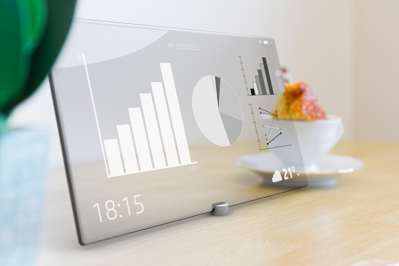 Business Icons On Tablet