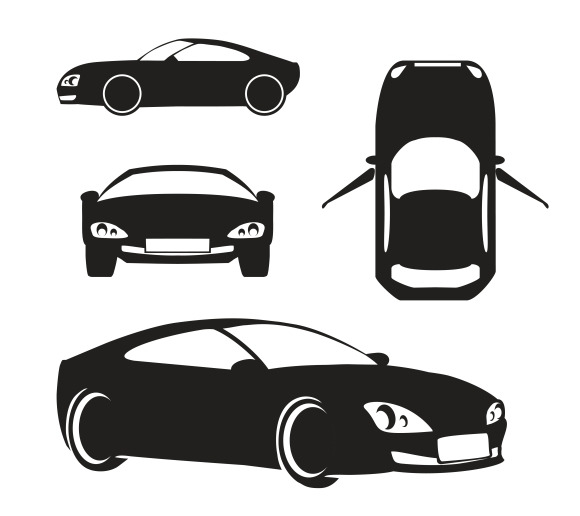 Vector Silhouette Car