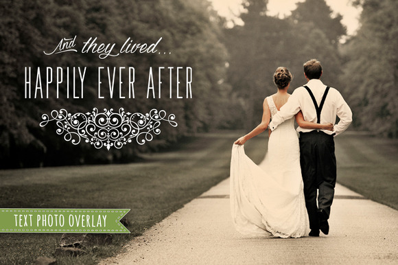 Wedding Phrase Overlay For Photos