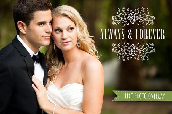 Wedding Photo Overlay Text PNG