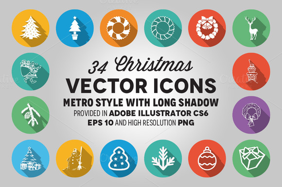 34 Christmas Vector Icons