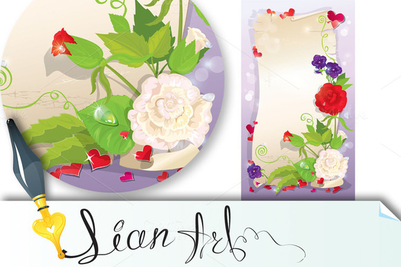 Love Letter With Hearts And Flowers
