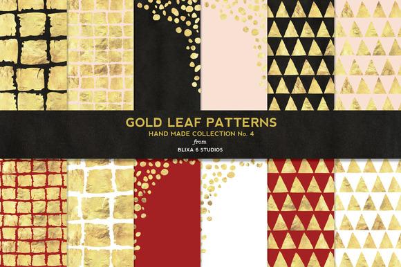 Hand Made Gold Leaf Digital Patterns