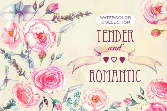 Romantic Watercolor Set