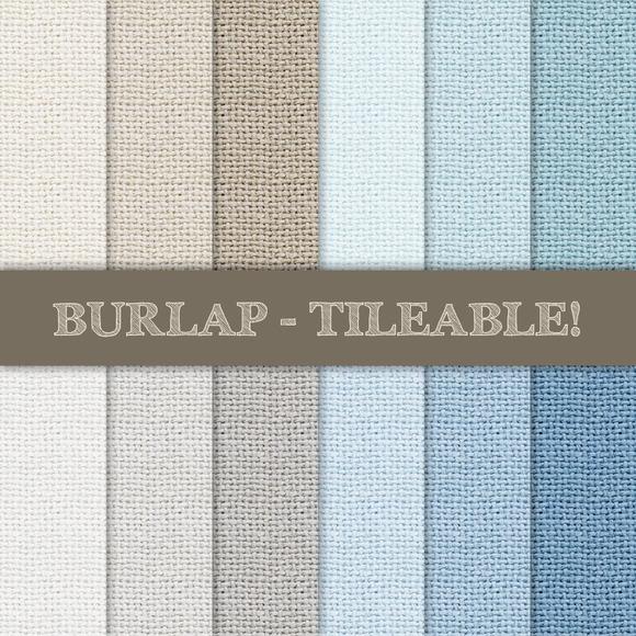 Burlap Textured Pattern Tileable