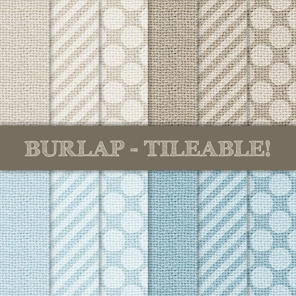 Burlap Tileable Stripes Dots