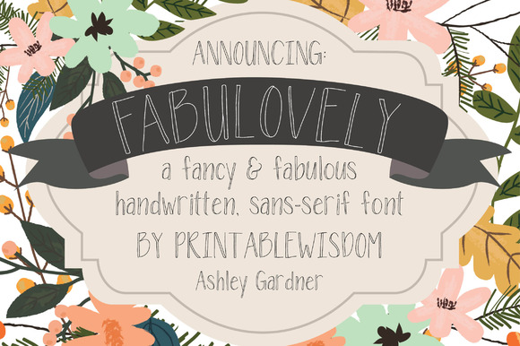 Fabulovely A Fancy Sans-serif Font