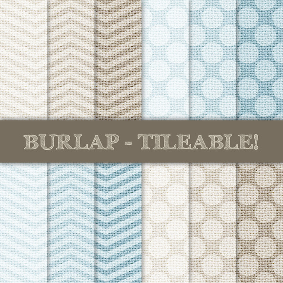 Burlap Tileable Chevron Dots
