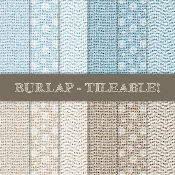 Burlap Tileable Chevron Dots