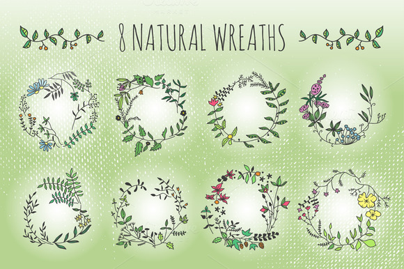 Natural Wreaths And Elements
