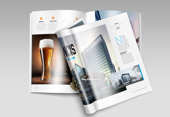 A4 Brochure Magazine Mock-Up