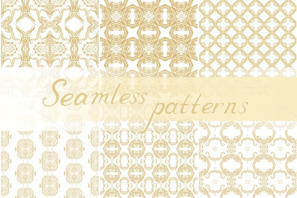 Set Of 13 Seamless Ornaments