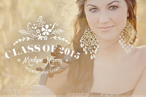 Senior Graduate Photo Overlay PSD