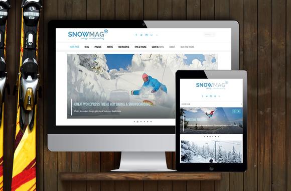 SnowMag Ski SnowBoard WP Theme