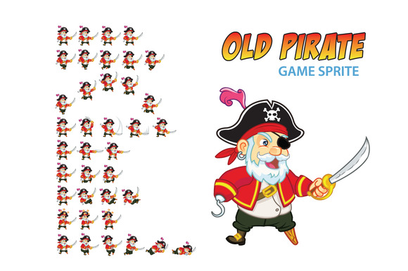 Old Pirate Game Sprite