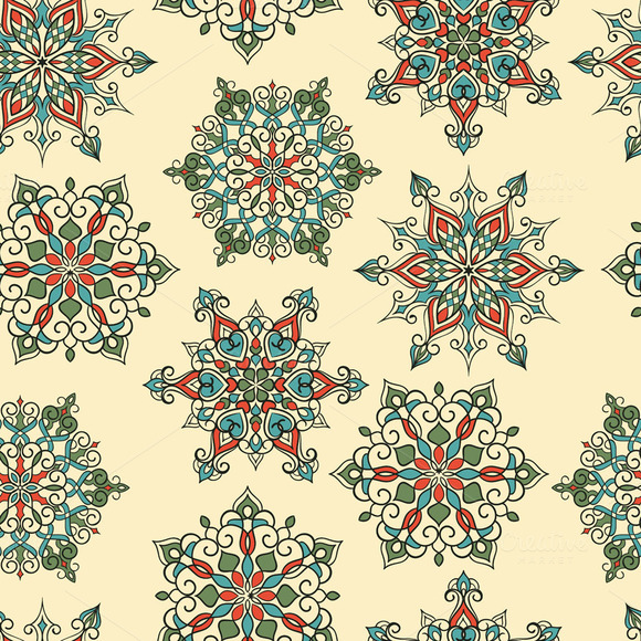 Seamless Pattern And Snowflakes