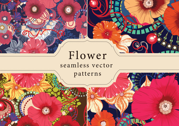11 Floral Seamless Patterns