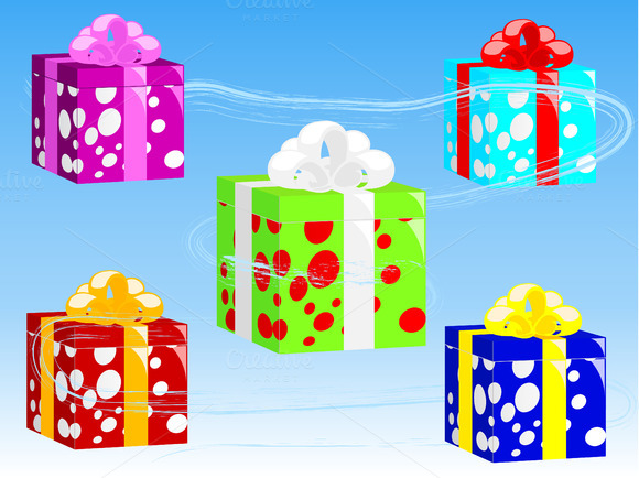 Present Boxes Vector Illustration