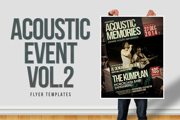 Acoustic Event Flyer Templates Vol.2