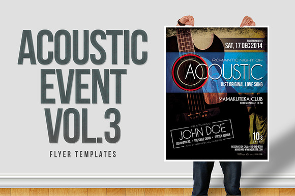 Acoustic Event Flyer Templates Vol.3